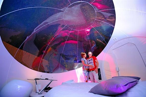 Tatil için 'Balon odalar'-4