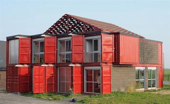 Amerika'lı mimarlar Liman konteynerdan ev yaptı-6