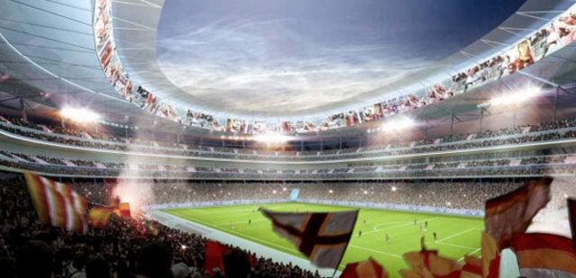 Roma futbol klubü yeni stadyumunu tanıttı-1