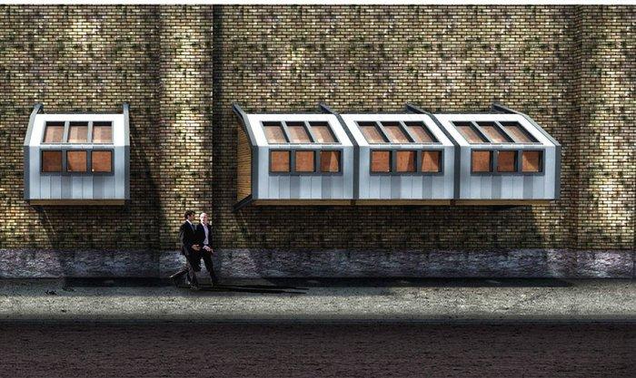 Londra'da Evsizler İçin Yapılan Barınaklar-3
