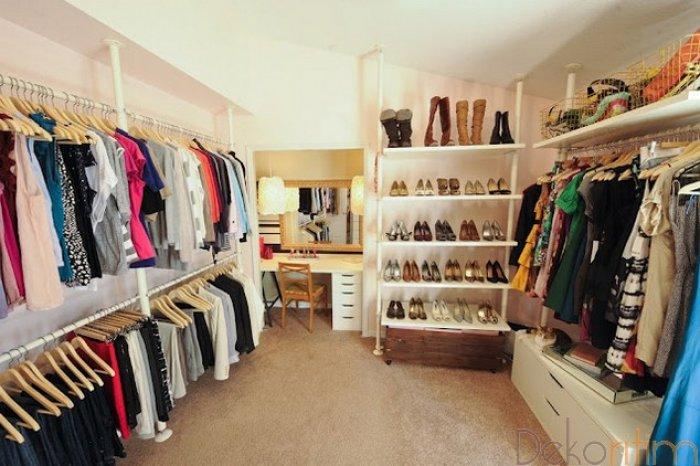 Birbirinden Farklı Giyinme Odası Tasarımları-13