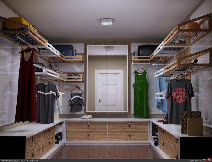 Birbirinden Farklı Giyinme Odası Tasarımları-3