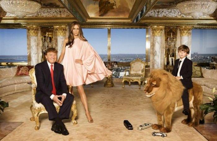 ABD'nin yeni başkanı Donald Trump'ın altın kaplama evi -2