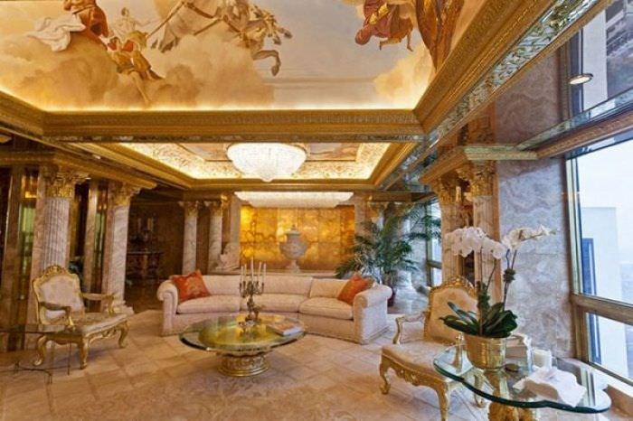 ABD'nin yeni başkanı Donald Trump'ın altın kaplama evi -11