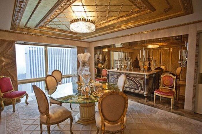 ABD'nin yeni başkanı Donald Trump'ın altın kaplama evi -12