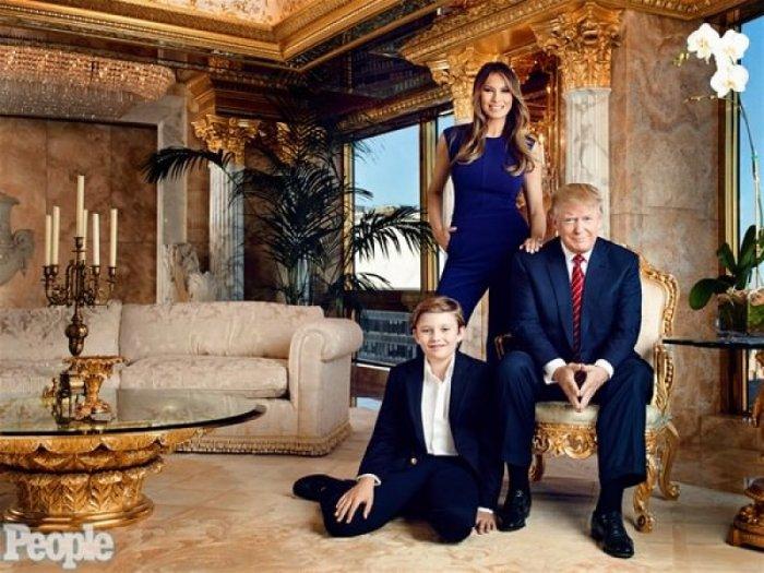 ABD'nin yeni başkanı Donald Trump'ın altın kaplama evi -3