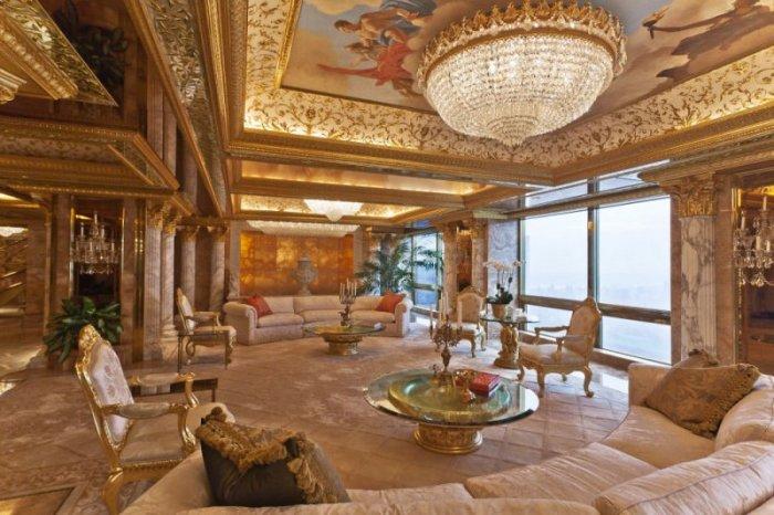 ABD'nin yeni başkanı Donald Trump'ın altın kaplama evi -4