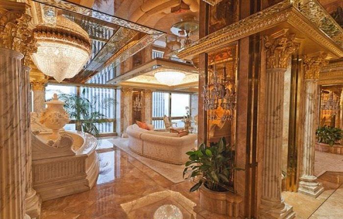 ABD'nin yeni başkanı Donald Trump'ın altın kaplama evi -5