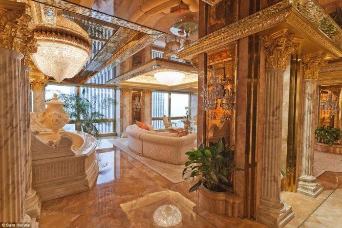 ABD'nin yeni başkanı Donald Trump'ın altın kaplama evi -6