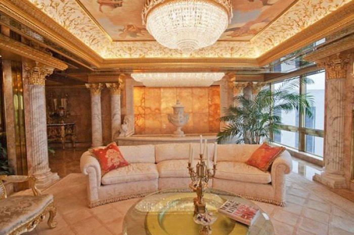 ABD'nin yeni başkanı Donald Trump'ın altın kaplama evi -9