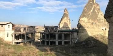 Kapadokya'da  toplu yıkım