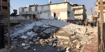 Kartal'da ikinci riskli binanın yıkımı başladı