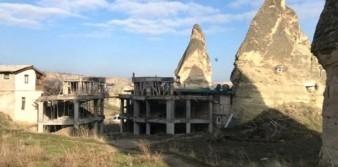 Peribacaları'nda yıkım yapılan yapı sayısı 100'ü aştı