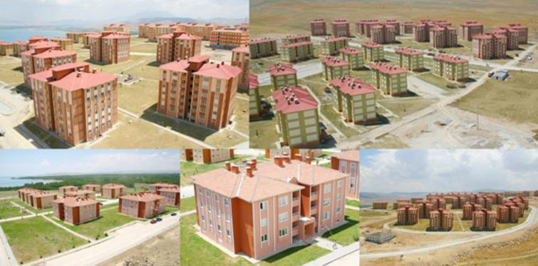 Van ve Erciş'te konutların kuraları çekiliyor
