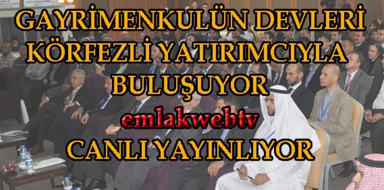Körfezli yatırımcı İstanbul'da emlakwebtv canlı yayında