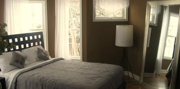 1+1 daireler için yatak odası ipuçları