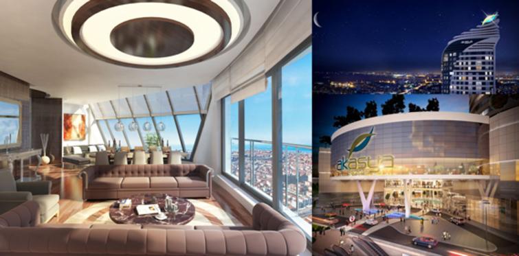 Akasya Acıbadem'in Penthouse daireleri satışa çıktı