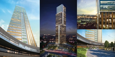 Palladium Tower'da 5 kat, 21 ofis satışta