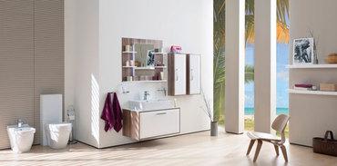 Cream banyo mobilyası, gördünüz mü?