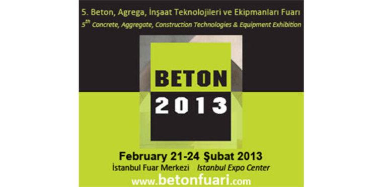 Beton 2013, İstanbul Fuar Merkezi'nde