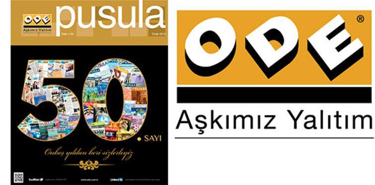 ODE Yalıtım'ın dergisi Pusula 50. sayıya ulaştı