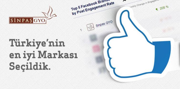 Sinpaş GYO Facebook'ta birinci