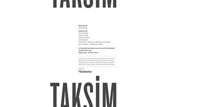Taksim tartışmaya açık