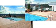 Göktürk Doğa Teras Evleri'nde havuz çatıda