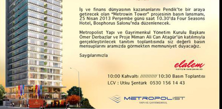 Metrowin Tower projesi satışa sunuldu!