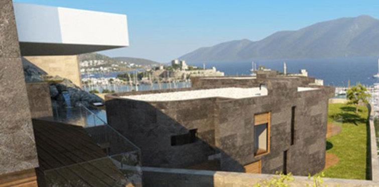 Bu evler Bodrum Kalesi'ne bakıyor
