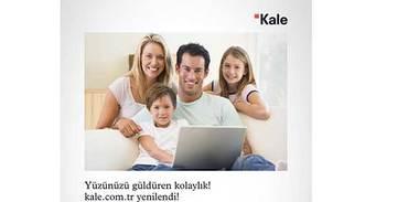 Kale, web sitesi ve mobil kataloğu hizmetinizde