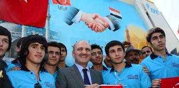 Mısır'a 2 milyon dolar ve 150 çöp kamyonu desteği