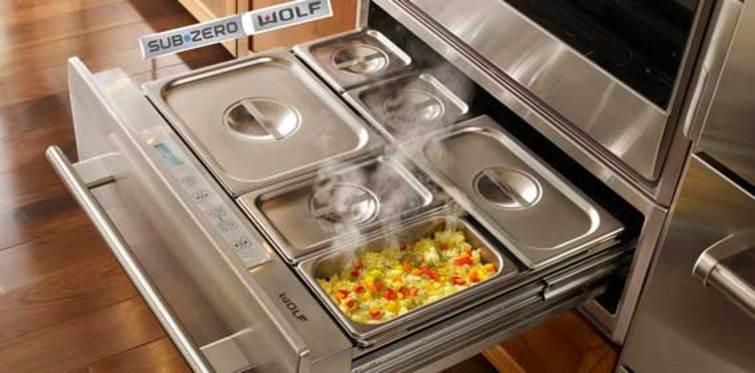 Sıcak yemeklerin sırrı Wolf ısıtma çekmecesinde saklı