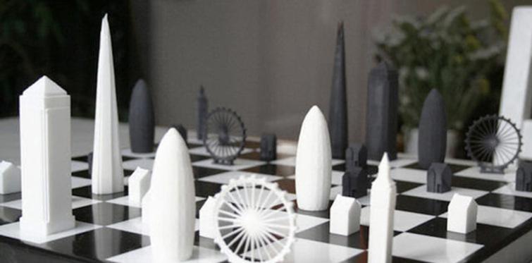 Londra binaları satranç tahtasında inşa edildi