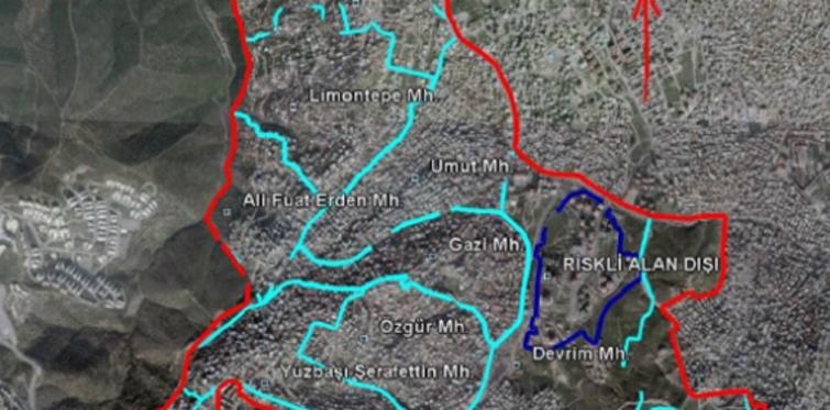 İzmir'de riskli alan ilan edilen bölgeler