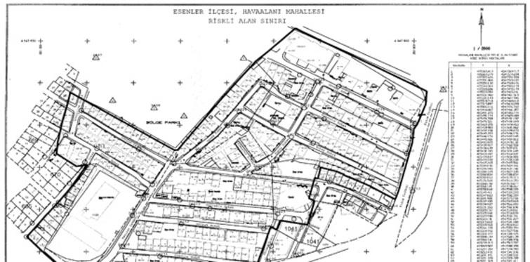Riskli alan ilan edilen yerler; riskli alan ilan edilen ilçe ve mahalleler