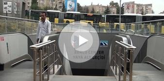 Zincirlikuyu'da metro ile metrobüs birleşti