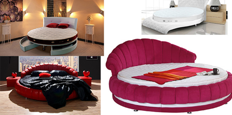 """Yatak odalarında yeni trend """"Yuvarlak Yatak"""""""