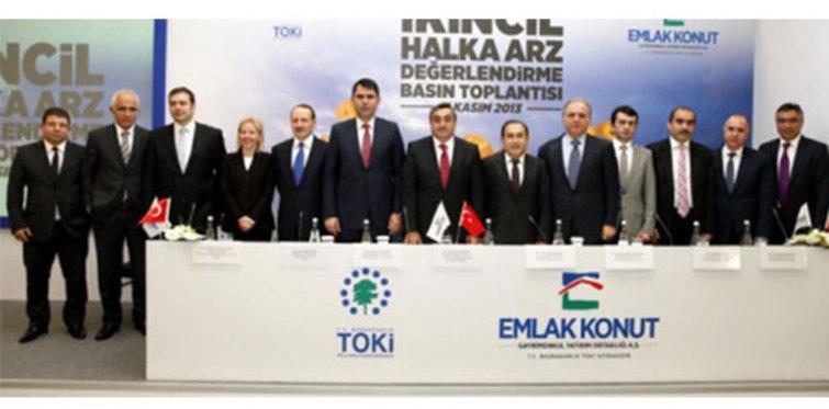 Emlak Konut 2013'te 5.9 milyar TL gelir elde etti
