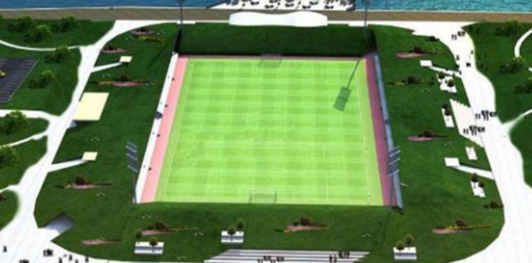 Rize'de yapılacak futbol sahası durduruldu
