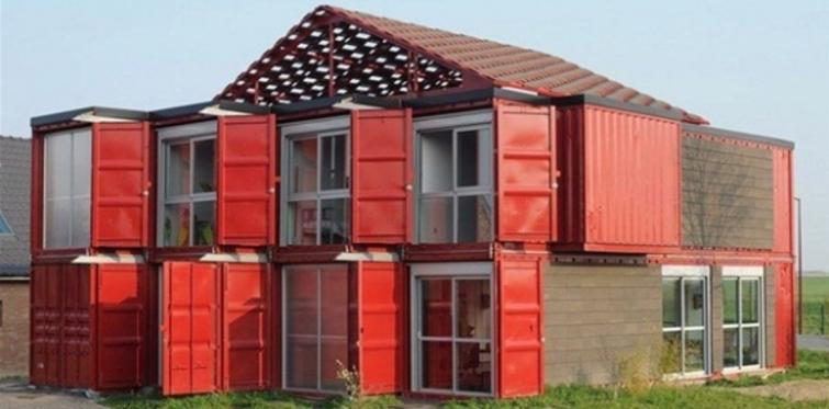 Liman konteynerından ev tasarladılar