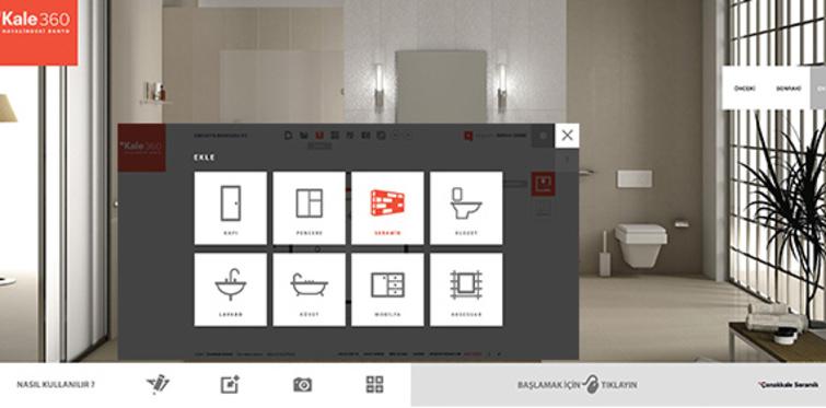 """""""Kale 360"""" uygulaması ile banyoda özel tasarım"""
