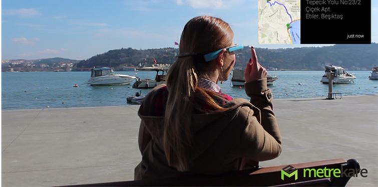 Metrekare.com, emlak sektörünü Google Glass'a taşıdı