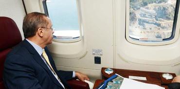 Başbakan Recep Tayyip Erdoğan 3.Köprü inşaatını inceledi