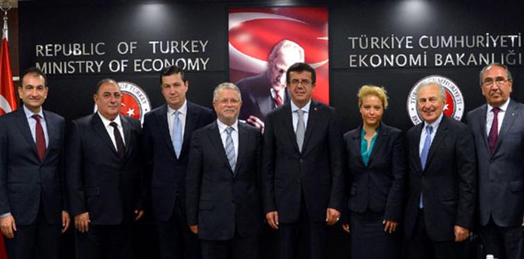 Çelik sektörü Bakan Zeybekçi'yi ziyaret etti