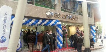 Seramiksan yeni bayisi Tunçek İnşaat'ın Mağazası Açıldı