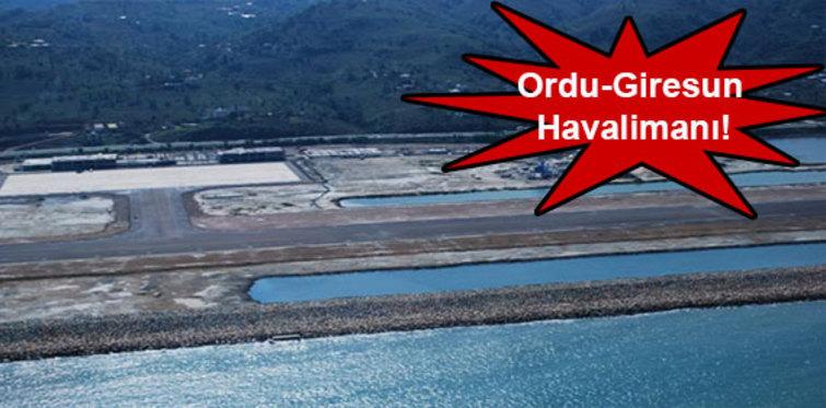 Ordu Giresun Havaalanı'na ilk uçak indi