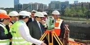 Vali Şahin'den Okmeydanı Hastane inşaatına ziyaret