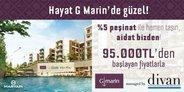 G Marin'den yüzde  5 ön ödemeyle hemen taşınma fırsatı