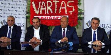 Vartaş Elazığspor'un sponsoru oldu